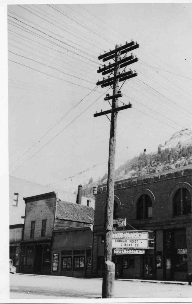 Nugget marquee in probably 1939 as U BOAT 29 was released that year  (Courtesy of the Telluride Historical Museum)